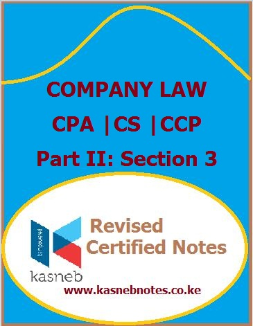 Kasneb Company law notes