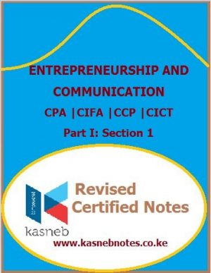 Kasneb Entrepreneurship and communication notes