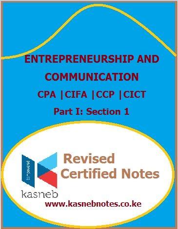 Kasneb Entrepreneurship and communication notes
