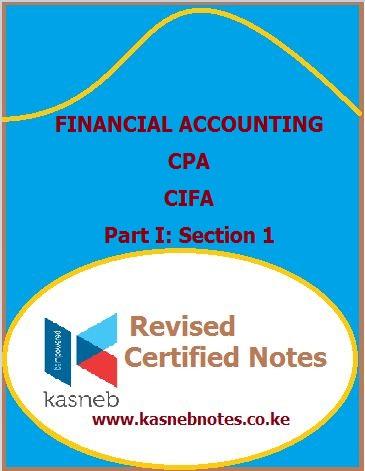 Financial accounting notes kasneb