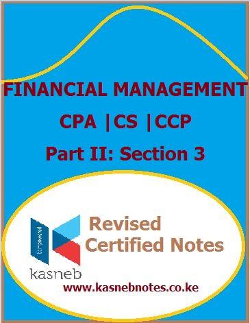 Kasneb Financial Management notes