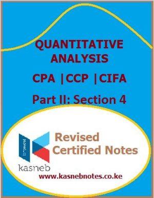 Kasneb Quantitative Analysis notes