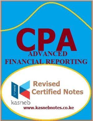 Advanced Financial Reporting CPA Advanced level