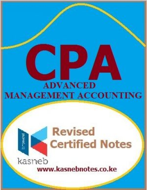 Advanced Management Accounting CPA Advanced level